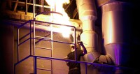 Die fulminante Feuershow hielt die Besucher in Atem