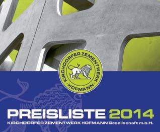 Preisliste 2014