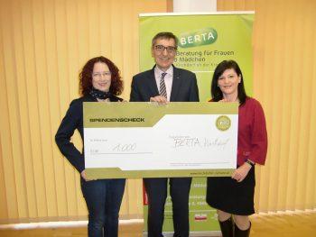 Spende an den Verein BERTA in Kirchdorf/Krems