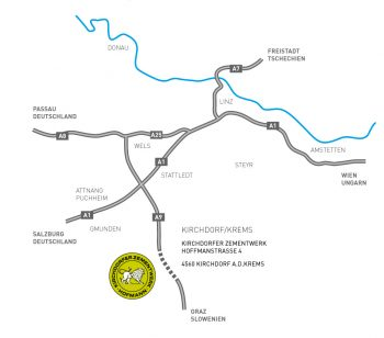 Lageplan und Zufahrtsbeschreibung Kirchdorfer Zementwerk